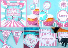 Circus Party Decorations Carnival Decorations HUGE PARTY SET - as seen on Amy Atlas Gwynn Wasson Printables by GwynnWassonDesigns on Etsy https://www.etsy.com/listing/114911018/circus-party-decorations-carnival