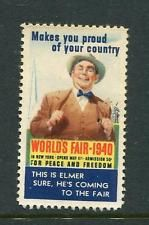 1940 This Is Elmer He Is Coming To The Fair Reklamemarke Poster Stamp