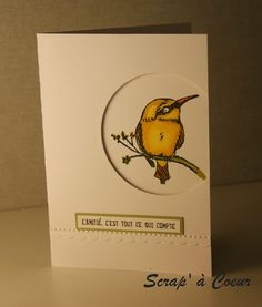 "Love the cut-out and the ""yellow"" color of the bird. Beautiful"