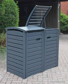 Garbage Can Shed, Garbage Storage, Storage Bins, Hide Trash Cans, Trash Bins, Pergola Patio, Backyard Patio, Bin Store Garden, Pool Equipment Cover