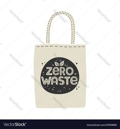 Textile eco-friendly reusable shopping bag with vector image on VectorStock Reusable Shopping Bags, Paper Shopping Bag, Zero Waste, Adobe Illustrator, Hand Drawn, Vector Free, Eco Friendly, How To Draw Hands, Web Design