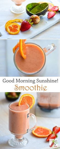 Breakfast Smoothie with Avocado Orange and Strawberrie | Chefdehome.com