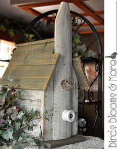 Country+Church+Bluebird+Birdhouse+by+BirdsBloomsandMore+on+Etsy,+$69.95