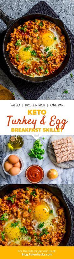 Keto Turkey & Egg Breakfast Skillet Recipe   Paleo, Protein Rich, One Pan Vegan Keto Diet, Keto Meal, Ketogenic Diet, Keto Approved Foods, Keto Diet Vegetables, Best Diets To Lose Weight Fast, Keto Diet Benefits, Starting Keto Diet, High Fat Diet