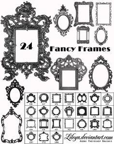 Fancy Frames Brush Set 2 by Lileya.deviantart.com