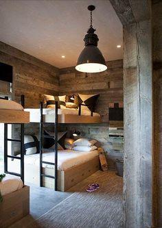 Loft bed in the nursery 100 cool bunk beds for kids Jugendzimmer für Teenager Bunk Beds Built In, Cool Bunk Beds, Kids Bunk Beds, Loft Beds, Queen Bunk Beds, Double Bunk Beds, Chalet Design, House Design, Chalet Style