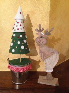Albero natalizio in feltro