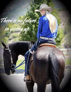 Image: Amberley Snyder-- THIS GIRL IS AMAZING!! She was paralyzed from the waist down from a car crash but refused to give up. She got back to school, back to life back in the saddle. An inspiration to us all