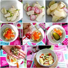 Insalata sfiziosa: ravanelli, mela, finocchio e carota Tacos, Mexican, Ethnic Recipes, Food, Essen, Meals, Yemek, Mexicans, Eten
