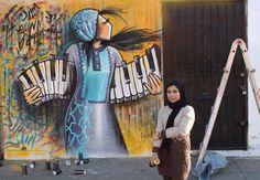 Afghan street artist uses graffiti to subvert gender norms