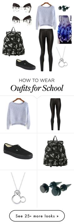 """""""Middle school"""" by emmylulu20 on Polyvore featuring The Row, Vans, Disney, women's clothing, women's fashion, women, female, woman, misses and juniors"""
