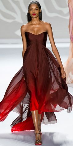 Absolutely Stunning, Monique Lhuillier Spring 2014. #NYFW #MBFW