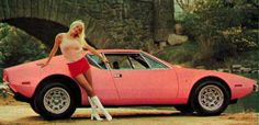 The pink Playboy Pantera. This Pantera with a custom pink paint job was given to the Playboy Playmate of the year 1972 – Liv Lindeland