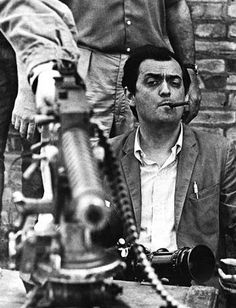 Stanley Kubrick on the set of Paths of Glory (1957)