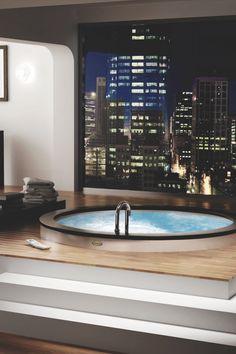 modern interiors - architecture - landscape — drugera:   Indoor Hot Tub