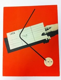 "Alvin Lustig's design for ""Staff"" magazine. Aimed at the staff of Look magazine. 1944"