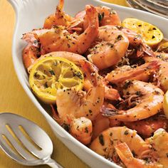 Beach Shrimp- One of my favorite recipes! I use garlic powder instead of mincing garlic... Super easy and delicious!