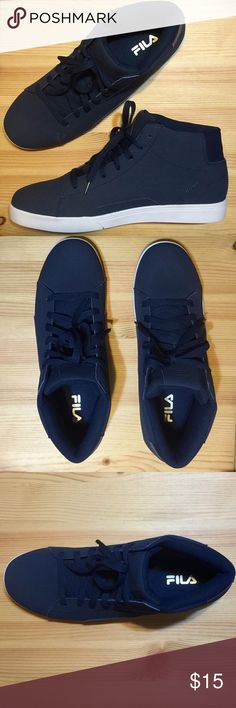 huge discount 5ba52 db2bd FILA High Top shoes New! FILA high top shoes in blue Fila Shoes Sneakers Top