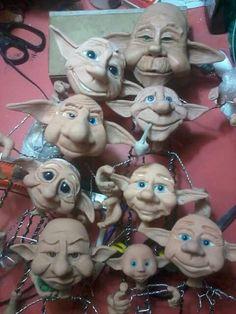 Bildergebnis für fimo leather effect Polymer Clay Figures, Polymer Clay Sculptures, Polymer Clay Dolls, Polymer Clay Creations, Sculpture Clay, Polymer Clay Crafts, Elves And Fairies, Clay Fairies, Forest Elf