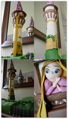 H1s 4th birthday party.  She's insisting on Rapunzel.  I want this cake.