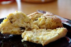 Nectarine Ginger Scones ~These would be great without the ginger.