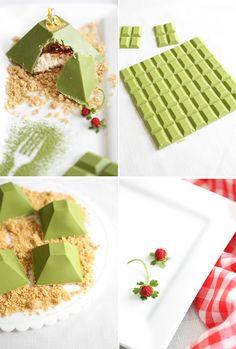Matcha Picchu: A Matcha, Strawberry, and Milk Caramel Dessert | Sprinkle Bakes