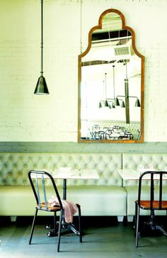 The Abattoir Restaurant in Atlanta carries beloved collard greens, grown on the farm of chef-owners Anne Quatrano and Clifford Harrison, in addition to beautiful decor.