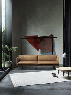 OUTLINE sofa designed by Anderssen & Voll for Muuto #outlinesofa #sofa #leathersofa #muuto #muutodesign #scandinaviandesign #plyrug #aroundtable #grainlamp #petershouse #peterkrasilnikoff