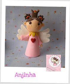 *SORRY, no information given as to product used, FOREIGN ~ 01/12 - Anjinha personalizada para um Batizado especial ! by Andreia Akita, via Flickr