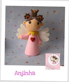 *SORRY, no information given as to product used, FOREIGN ~ 01/12 - Anjinha personalizada para um Batizado especial ! by Andreia Akita, via Flickr