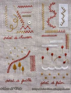 Mon cahier de broderie - Page 2 - side 1 - finished