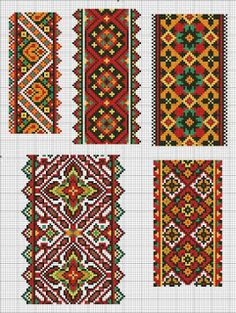 Cross stitching , Etamin and crafts: Traditional cross stitch Pattern Cross Stitch Geometric, Cross Stitch Borders, Cross Stitch Charts, Cross Stitch Designs, Cross Stitching, Cross Stitch Patterns, Hand Work Embroidery, Beaded Embroidery, Cross Stitch Embroidery