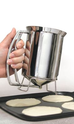 Pancake batter dispenser - great for cupcakes too!