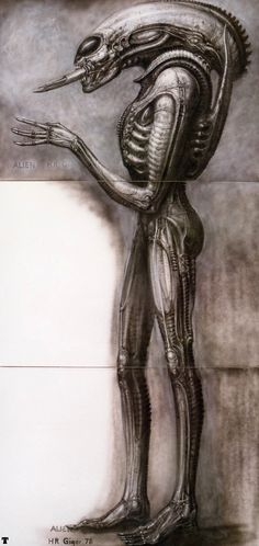 An image of the alien, reference for spectre concepts - A.M.