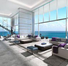 Luxury living room design Ideas with Neutral Color Palette Villa Interior, Apartment Interior, Apartment Living, Home Interior Design, Modern Interior, Interior Architecture, Living Room, Apartment Design, Duplex Apartment
