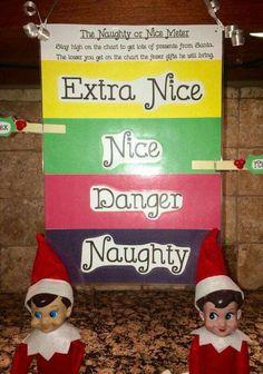 Elf on the Shelf behavior meter