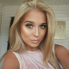 Like the blonde color, not the pound of make up!