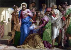 VERONESE, Paolo. (b. 1528, Verona, d. 1588, Venezia). . Conversion of Mary Magdalene. c. 1547.