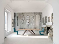 The exclusive collection in cooperation with the artist Karen Knorr: wallpaper A place like Amravti