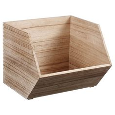 "$16.99- [11""H / 13""W / 14""D] Stackable Wood Bin Large - Pillowfort™ : Target"