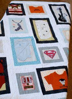 create: baby keepsake quilt - using onesies!