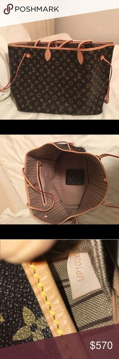 Louis Vuitton Gm neverfull handbag Comes with unisex wallet, great for casual occasions, comes with dust bag Louis Vuitton Bags Totes