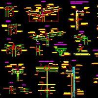 Detalles De Uniones De Estructuras Metalicas dwg  Dibujo de