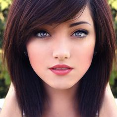 Hair color and cut. Though her eyes are amazing