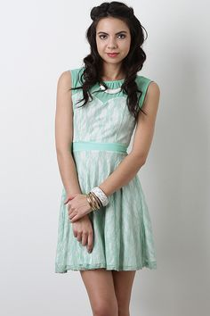 Make a lasting impression in this gorgeous Southern Victorian Dress. This dress features semi-sheer floral lace overlay, accent with a hint of metallic shimmer, partially lined, semi-sheer chiffon yoke, round neckline with pleating accent cap sleeves, keyhole slit to a single button closure at nape and a hidden rear zipper fastener.