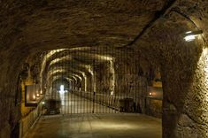 The  ancient underground cellar at Bodegas RODA, La Rioja, Spain