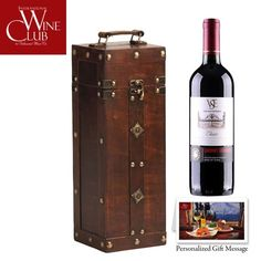 Holiday Wine Gift – Antique Wine Box 1-Bottle « Holiday Adds
