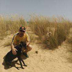 Primer día de playa con mis perretes