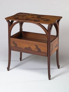 VMFA Art Deco & Art Nouveau Table by Louis MajorelleTable ca. 1900  Louis Majorelle French , 1859 - 1926 28.75 x 26 x 17.25 in 73.03 x 66.04 x 43.82 cm  Read more at https://vmfa.museum/collections/art/table-2/#xffBvA2GZTqAFEXX.99