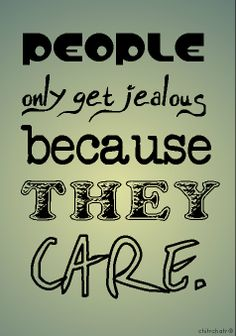 People only get jealous because they CARE. Agree? #chitrchatr